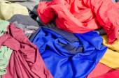 Clothes on a market stall — Stock Photo