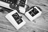Старый игровой консоли — Стоковое фото