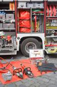 Fire Truck Equipment — Stock Photo