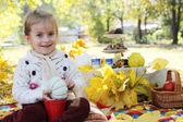 Baby girl  on picnic — Stock Photo