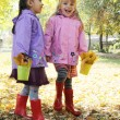 Little girls in park — Stock Photo #57203387