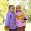 Little girls in park — Stock Photo #57204371
