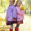 Little girls in park — Stock Photo #57205415