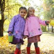 Little girls in park — Stock Photo #57205639