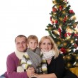 Family having fun under Christmas tree — Stock Photo #59439961