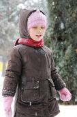 Girl in winter cloths — Stock Photo