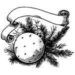 Christmas ball and ribbon — Stock Vector #58372815