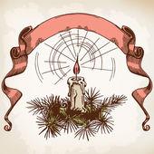 Bougie et ruban — Vecteur