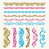 Set of perfect calligraphic vector brush — Stock Vector