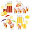 Set of pitcher and glasses — Stock Vector #78640670
