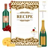 Blank for wine list — Stock Vector