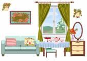 Wohnzimmer innenraum — Stockvektor