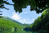 Beautiful landscape with lake — Stock Photo