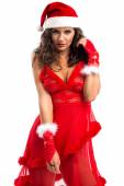 Lovely female Santa Claus — Stock Photo