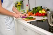 Food preparation in the kitchen — Stock Photo