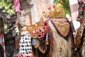Barong dance mask of mythological animal, — Stock Photo