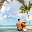 Young couple hugging  and enjoying in summer vacation — Stock Photo #73070143
