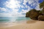 Частный пляж — Стоковое фото