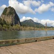 Beacon Rock View from Boat Dock — Stock Photo #72863699