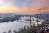 Sunrise Over Willamette River by Portland — Stock Photo