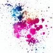 Colorful paint splatter on white background — Stock Photo #61049133