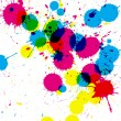 Colorful ink splatter on white paper — Stock Photo #61049251