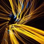 Yellow light lines at night — Stock Photo #61049333