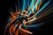 Dreamy blazing colorful lines — Stock fotografie