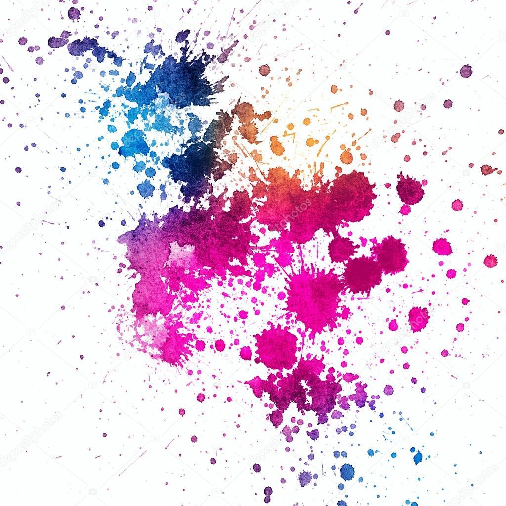 paint splatter background blue - photo #32