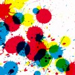 Colorful CMYK ink drops — Stock Photo #68253087