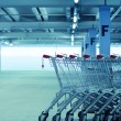 Shopping carts on a parking lot — Stock Photo #68253289