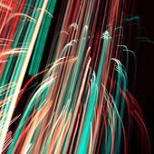 Cool abstract glowing lines — Stock Photo