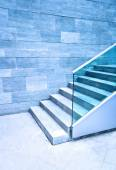 Granite stairs with steel — Stock Photo