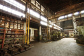 Inside old abandoned factory — Stock Photo