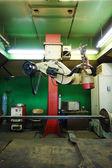 Big modern machine in factory — Stock Photo