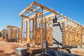 Nuova costruzione di case — Foto Stock