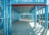 Struttura d'acciaio in costruzione — Foto Stock