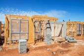 Construcción de casas nuevas — Foto de Stock