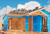 Home currently under construction — Stock Photo