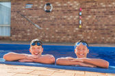 Two young swimmers  — Stock Photo