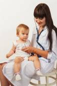 doctor with baby girl — Stock Photo