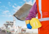 Skyddande arbete säkerhetsutrustning — Stockfoto