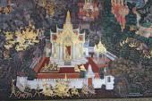 Mural in the cloisters at Wat Phra Kaew in Bangkok, Thailand — Стоковое фото