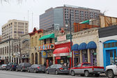 Businesses along historic 6th Street in downtown Austin, Texas — Stock Photo