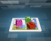 Uygulama yazılım simgeleri Tablet — Stok fotoğraf