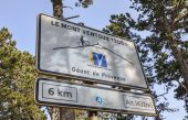 Road Indicator During on Mount Ventoux — Stock Photo