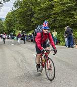 Fanny amateur cyclist — Stock Photo