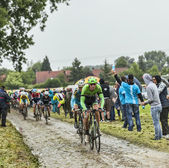 The Cyclist Bauke Mollema on a Cobbled Road - Tour de France 201 — Stock Photo