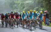 Astana Team and BMC Team — Stock Photo