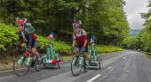 Funny Amateur Cyclists — Stock Photo